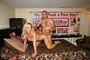 Fan Giving Porn Star Amber Lynn His Cock
